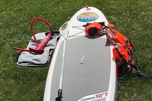 5-day Redwood 10'7 inflatable paddle board rental