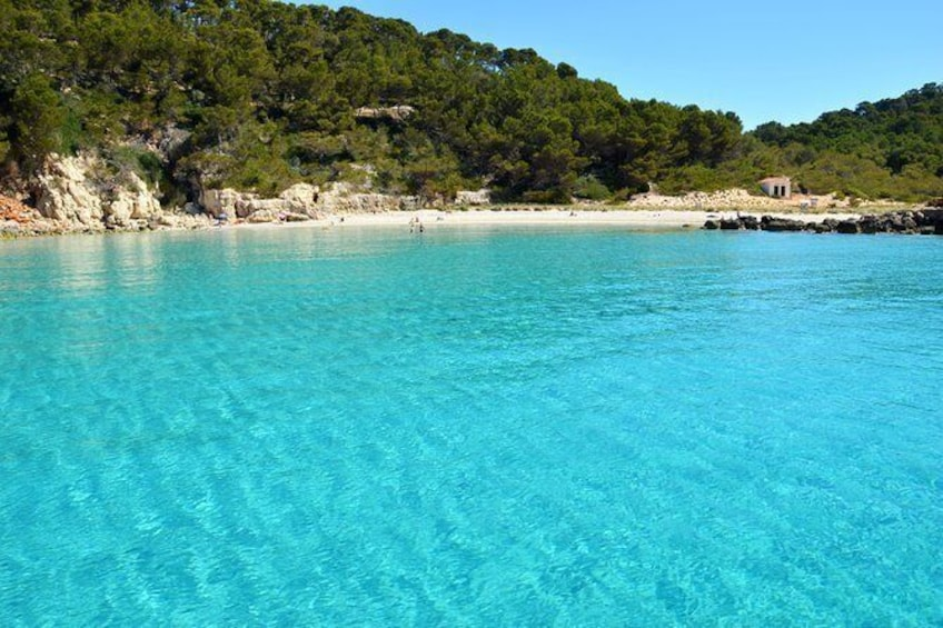 Show item 9 of 9. Discover the spectacular and emblematic South Coast of Menorca from Cala Galdana