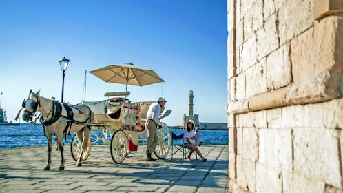 horse drawn carriage in Greece