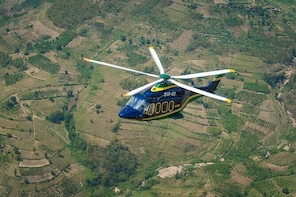 Private Helicopter Flight: from Kigali to Nyagatare in Rwanda