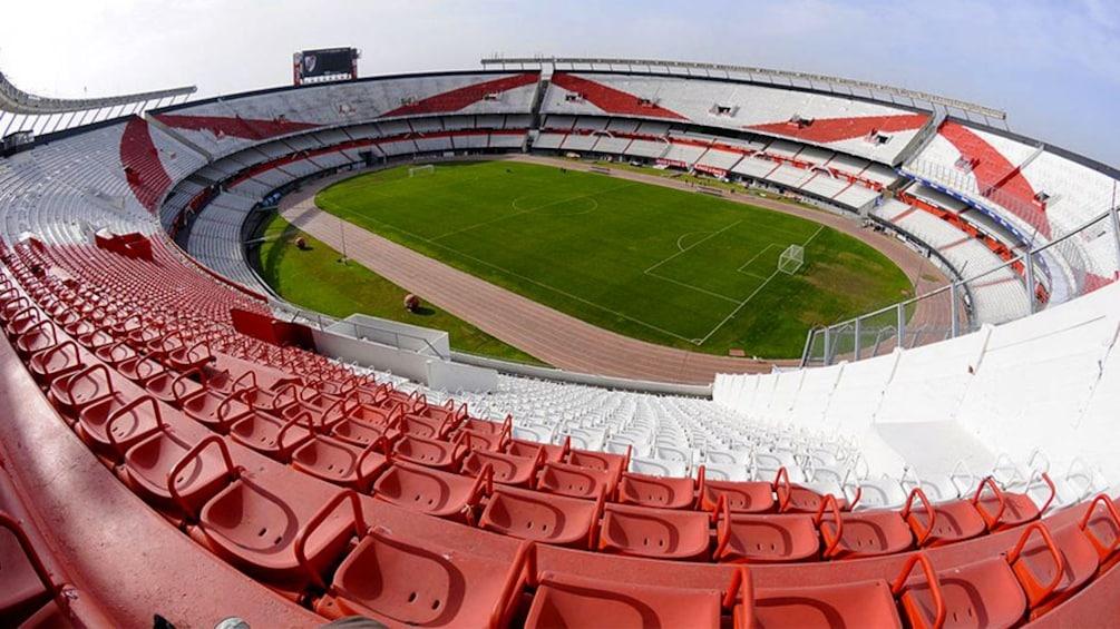 An empty El Monumental Stadium