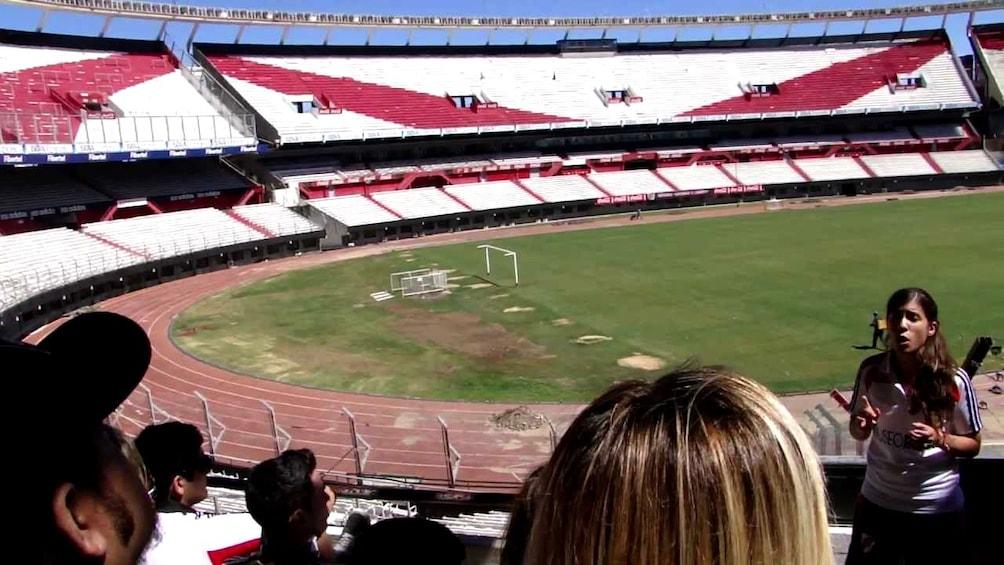 El Monumental Stadium tour with a tour guide