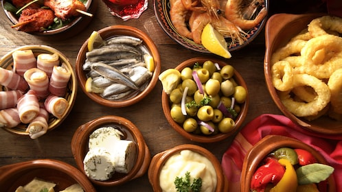 A table full of Spanish food