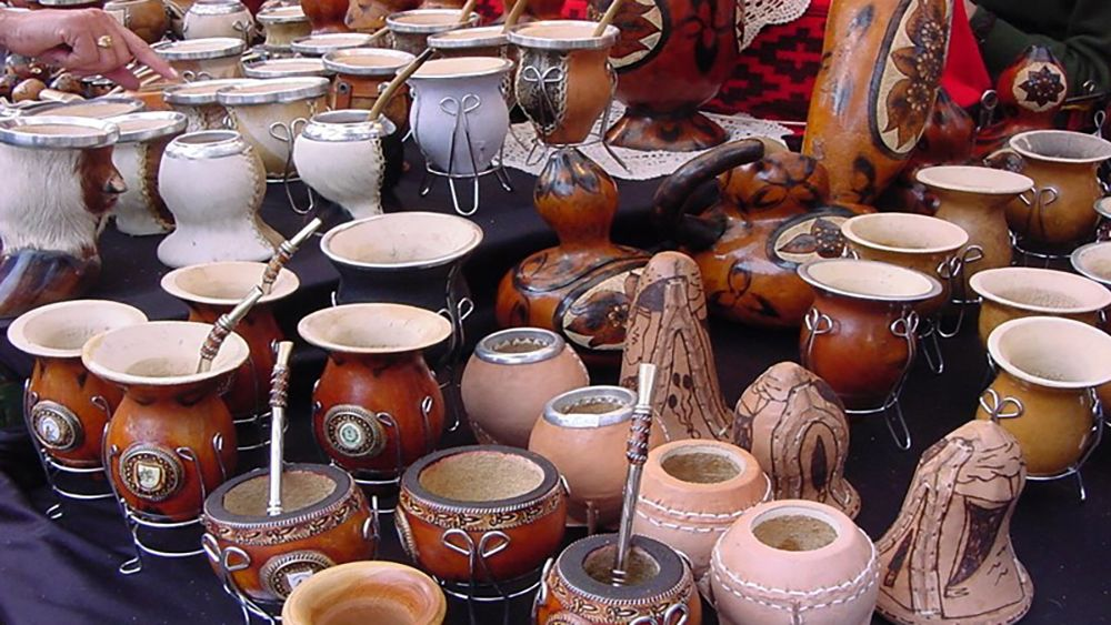 Argentine pots and pottery on a table