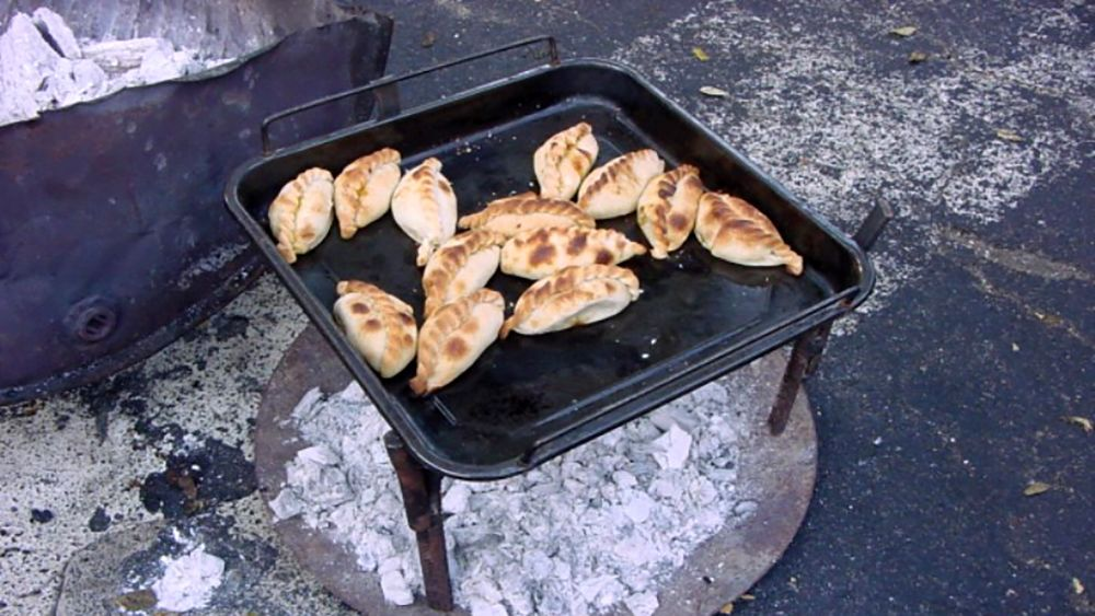 Empanadas cooking on the street