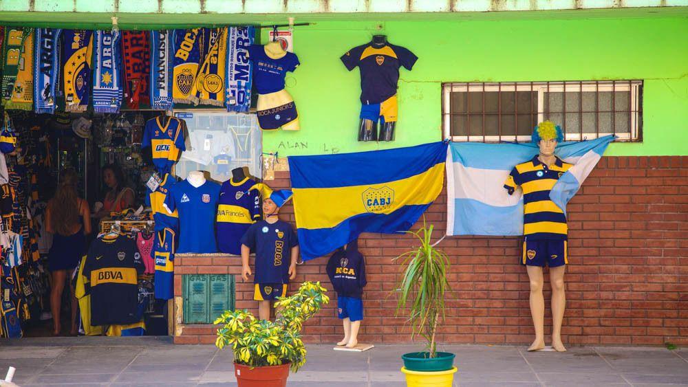 Merchandise for soccer team.