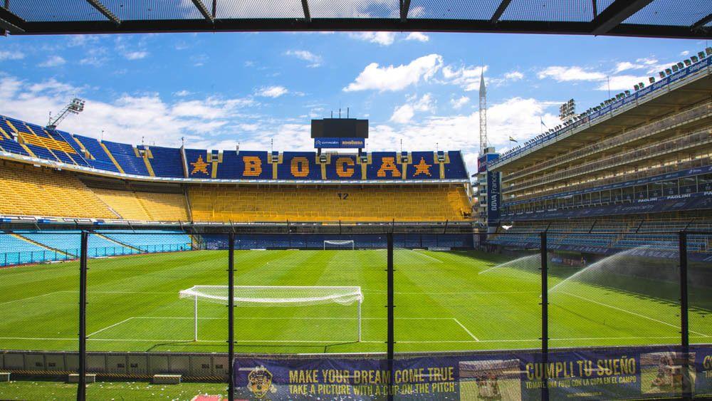 View of La Bombonera stadium during the day.