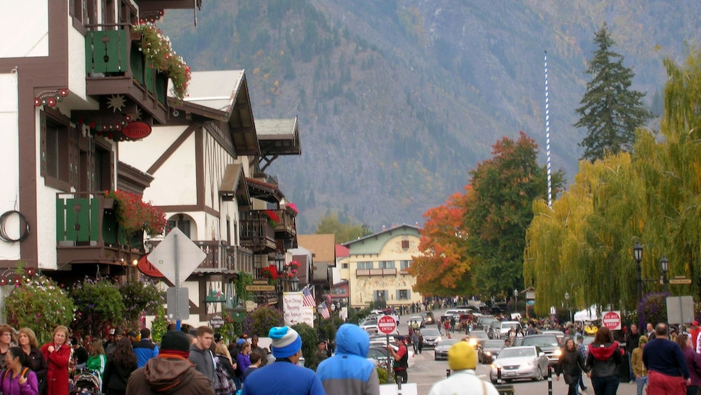Show item 1 of 6. Street view of Alpine Village inhabited by several people.