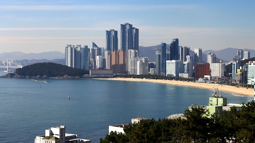 Busan City on the water