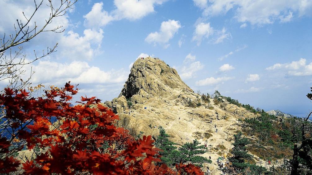Tourists on top of Mt Sorak