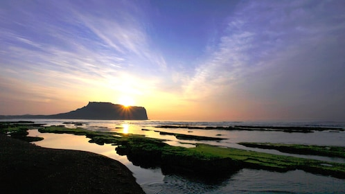 Sunset from the Beach of Jeju Island