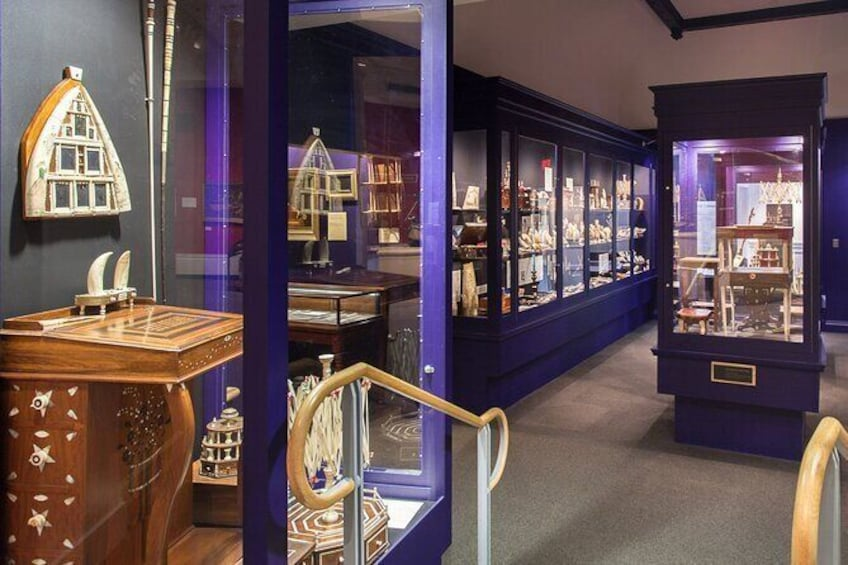 Show item 5 of 8. See the world's largest collection of scrimshaw, the shipboard art of sailors during the age of sail.