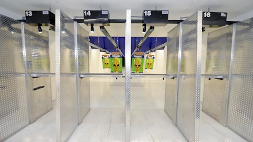 Indoor gun shooting range.