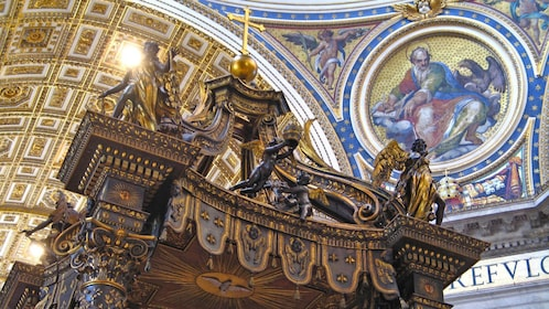 Stunning view inside St. Peter's Basilica in Rome
