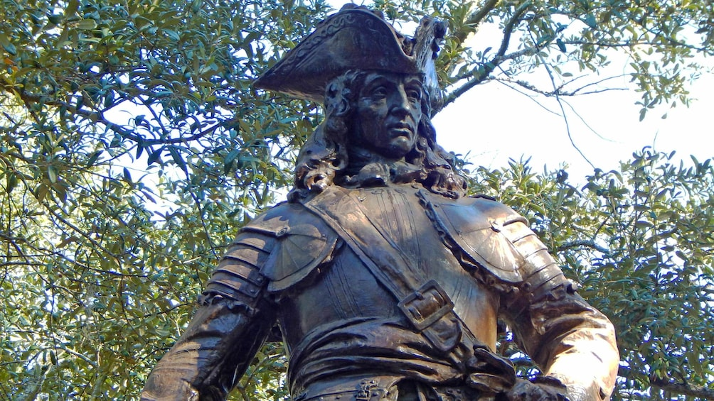Show item 2 of 10. Close up of a statue in Savannah