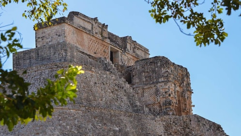 Angled view of Uxmal structure.