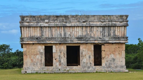 Close up view of Uxmal structure.