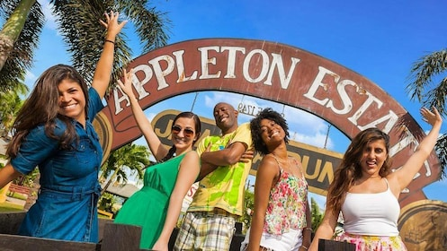 Group standing in front of the Appleton Estate in Jamaica