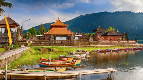 boats at dock in bali
