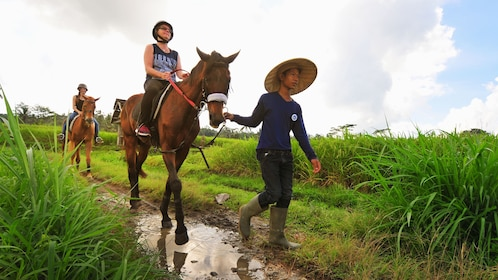 people riding horses in bali