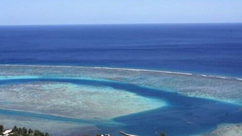 view out to ocean in bora bora