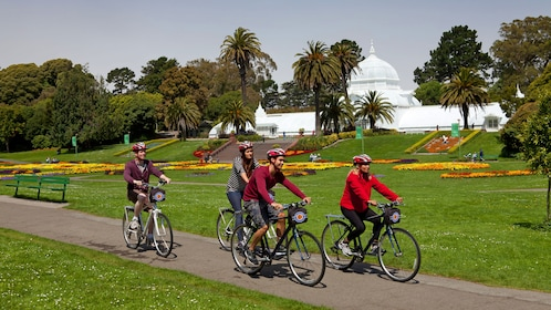 Group on bikes in San Francisco