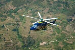Private Helicopter Flight from Mweya Airport to Kigali (Rwanda)