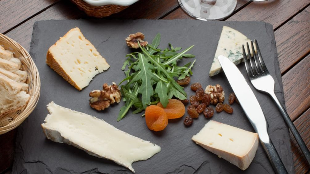 Show item 1 of 8. platter of cheese and garnish in Australia