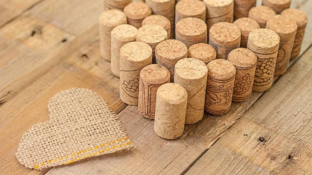 Show item 2 of 8. lined up pile of bottle corks in Australia