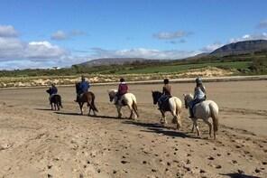 Beach horseriding. Sligo. Guided. 1, 2 or 3 hour options.