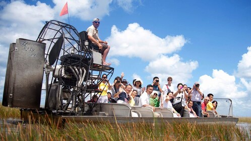 Airboat with passengers in the Everglades in Florida
