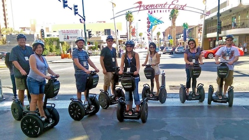 large gathering group on segways in Las Vegas