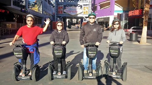 family riding on segway in Las Vegas