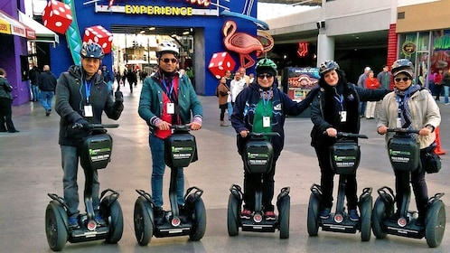 segway group bundled up in the cold in Las Vegas