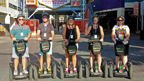 group balancing on segways in Las Vegas