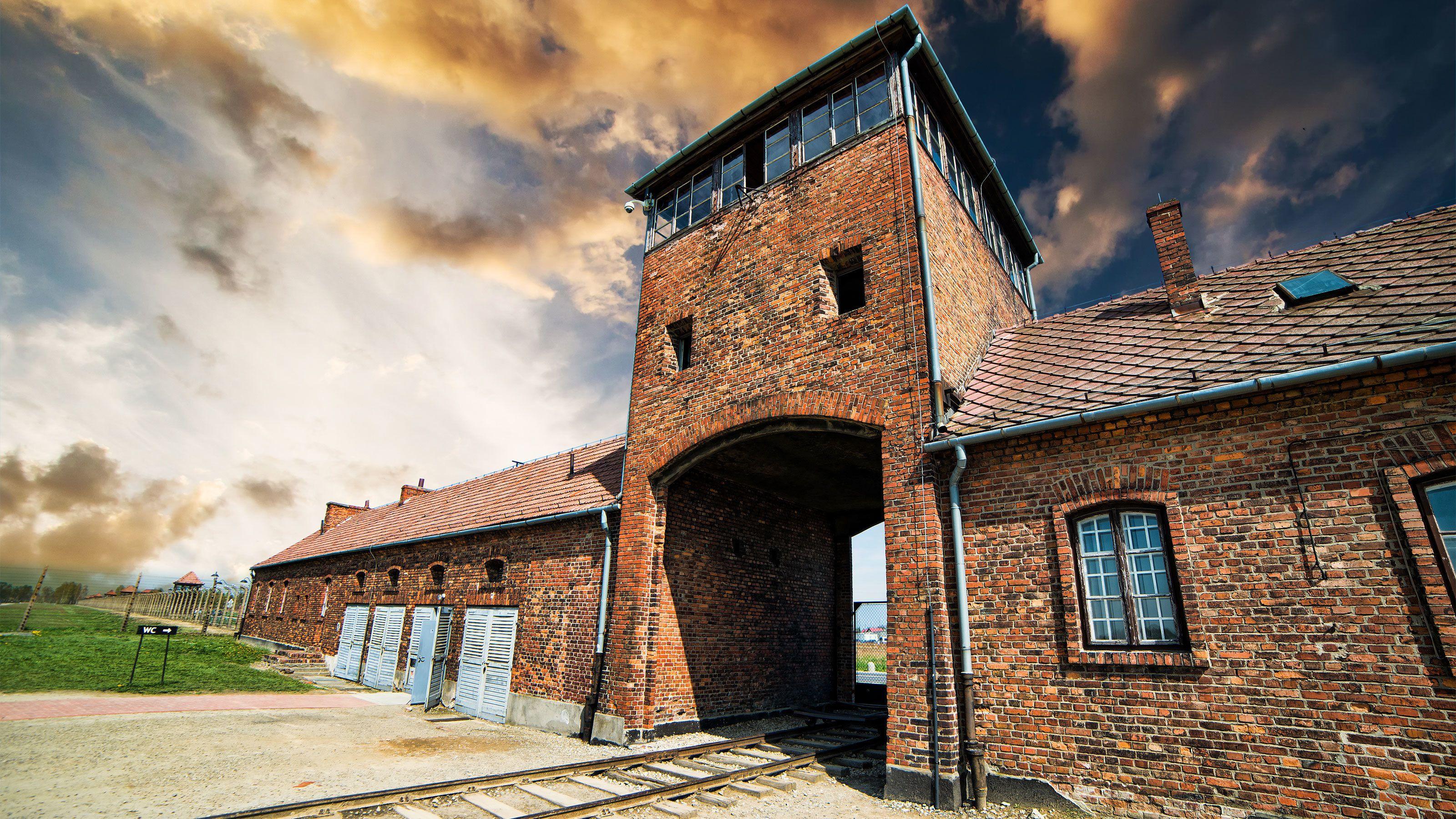 Gate to Auschwitz-Birkenau in Poland