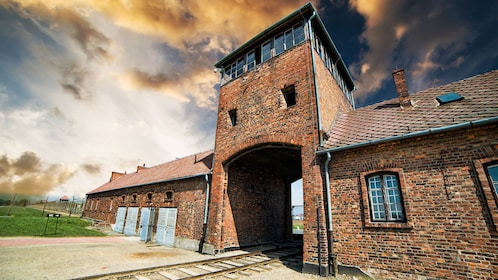 Gate to Auschwitz-Birkenau in Poland