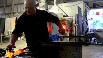 Tour della fabbrica di vetro di Murano e workshop di pratica