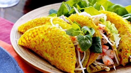 Vietnamese egg and shrimp dish