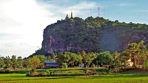 temple on top of a mountain cliff in Cambodia