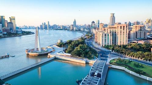 Riverfront buildings in Shanghai