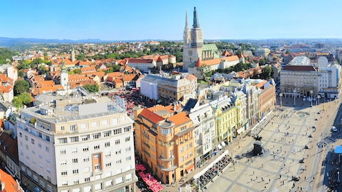 View overlooking Zagreb in Croatia