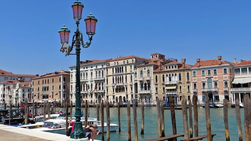 city view along canal in Venice