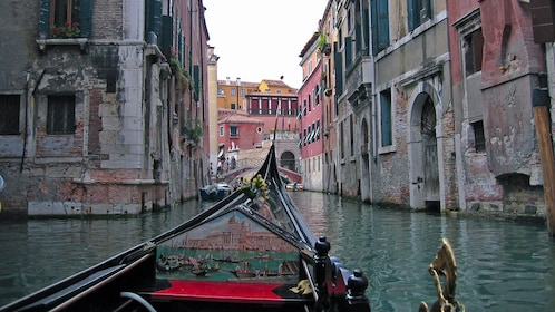 city from gonola on canal in Venice