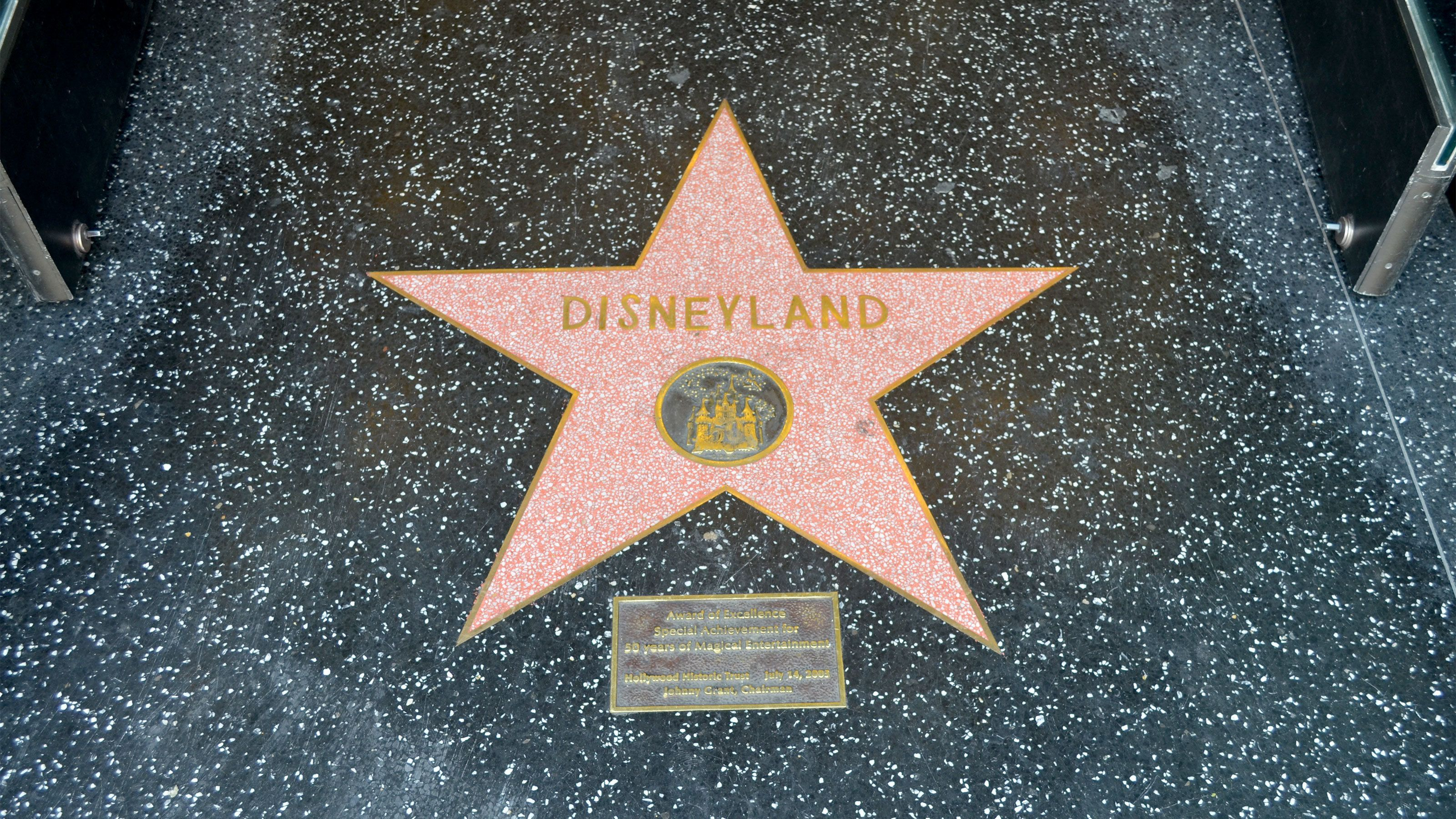 Close up of Hollywood Walk of Fame star.