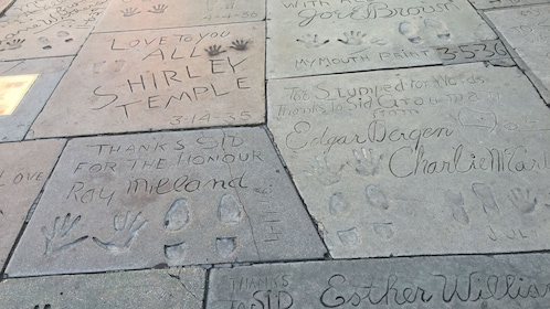 Close up of Hollywood Walk of Fame.