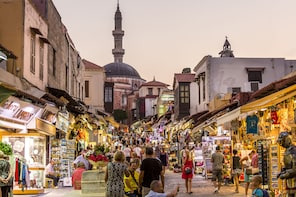 Rhodes: Old Town Walking Tour with Colossus & Local Market