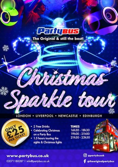 Show item 1 of 1. Christmas Sparkle Tour - Party Bus UK - Newcastle