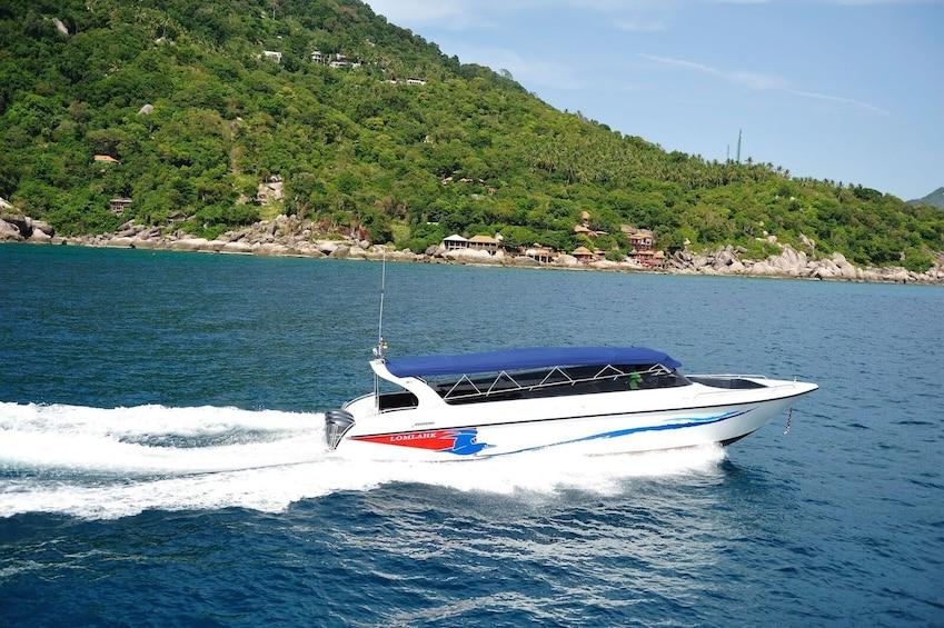Show item 1 of 8. Koh Phangan to Surat Thani Tapi Pier post COVID-19 Transfer by Speedboat