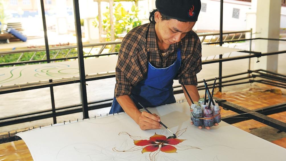 Show item 2 of 10. Malaysian Batik Centre and fabric